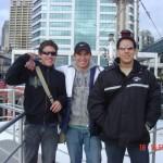 Danilo Sanchez, Sebastian Arbelaes y Luis Vinazco