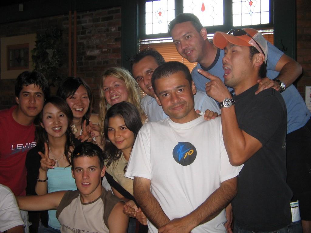 Grupo de estudiantes en Kelowna